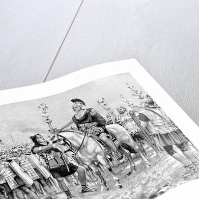 Painting of Roman General Marius Gaius on Horseback by Corbis