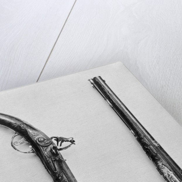 Seventeenth Century Flintlock Pistols by Corbis