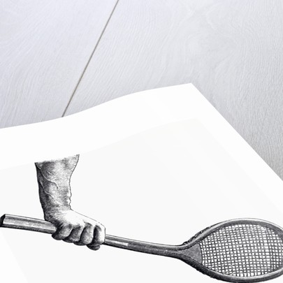 Illustration Demonstrating Correct Backhand Grip by Corbis
