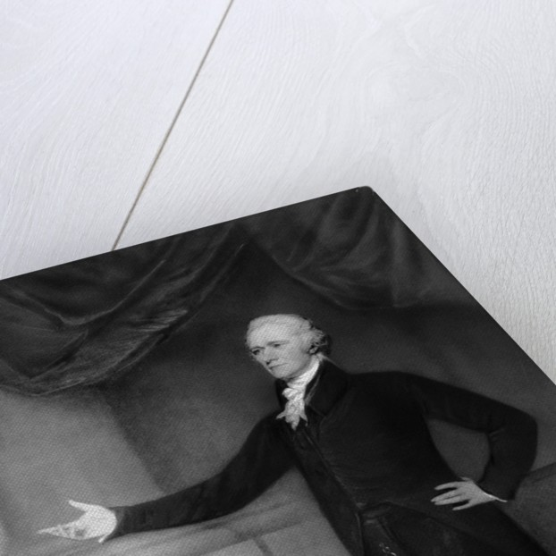 Alexander Hamilton Posing in Office by Corbis
