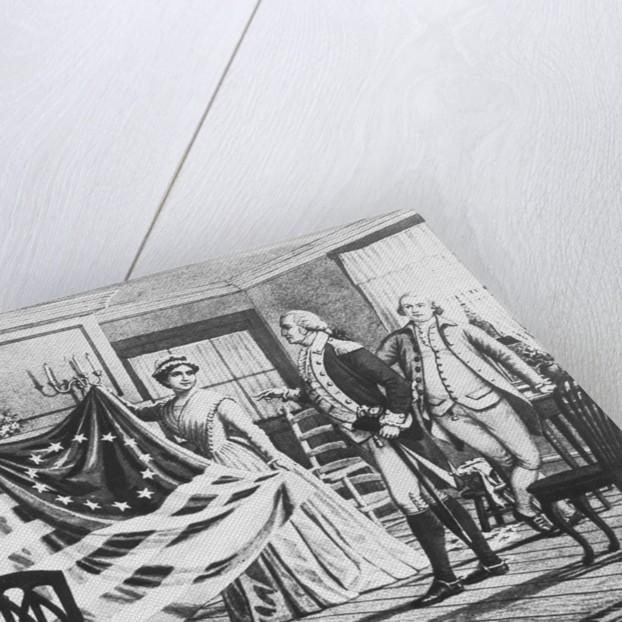 George Washington Viewing Flag by Corbis