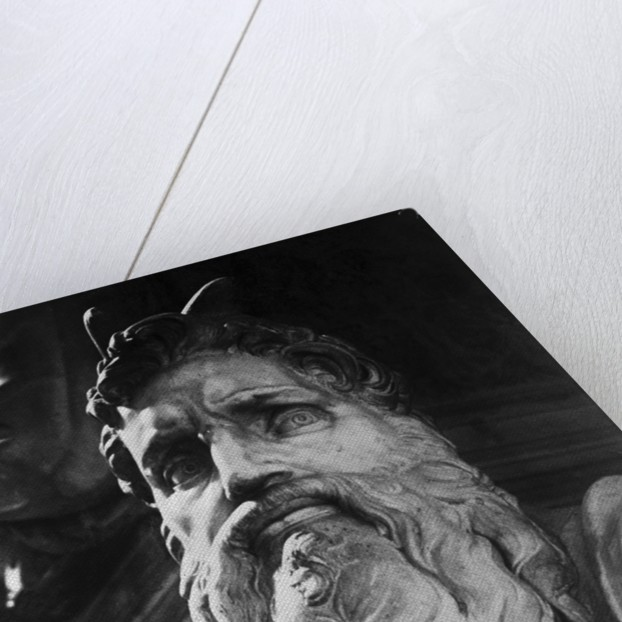 Detail of Moses by Michelangelo Buonarroti