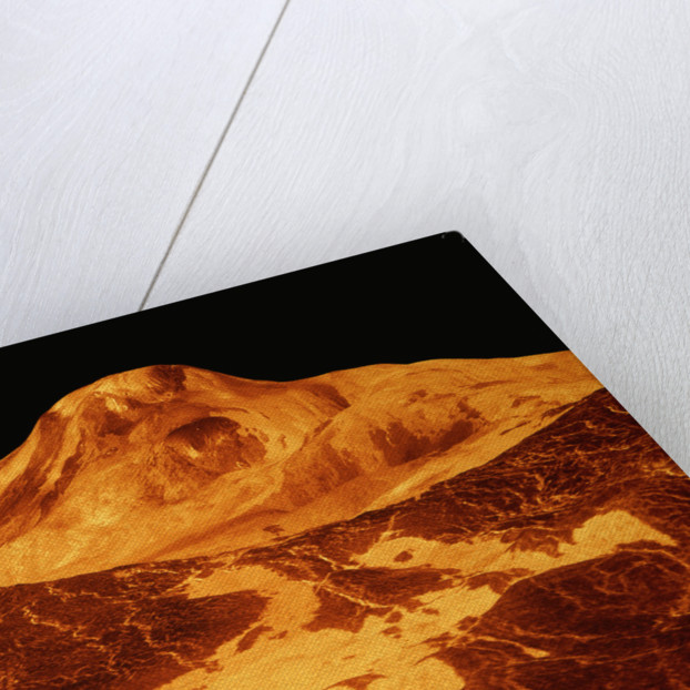 Volcano Erupting on the Surface of Venus by Corbis