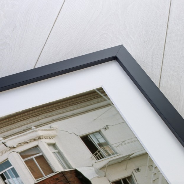 Quake-Damaged Apartment House by Corbis