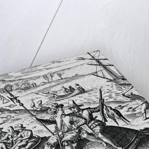 Dutch Explorers Enjoying Island by Corbis