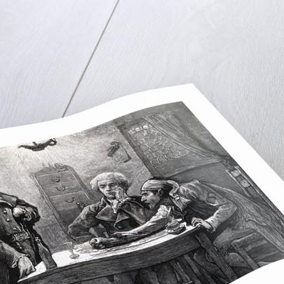 DANTON, ROBESPIERRE, AND MARAT IN THE WINE SHOP. by Corbis