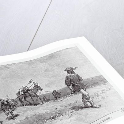 Explorer Alva Nunez De Vaca and Men Trekking American Terrain by Corbis