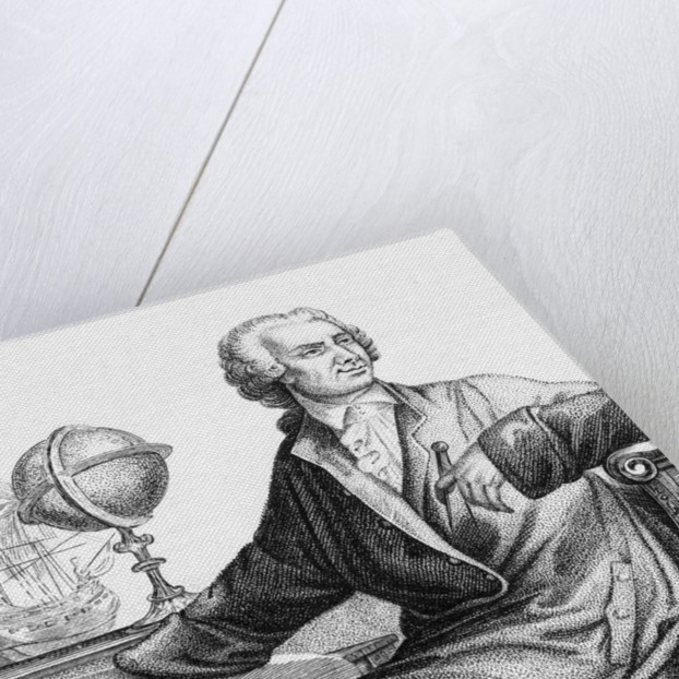Drawing of Mathematician Leonard Euler by Corbis
