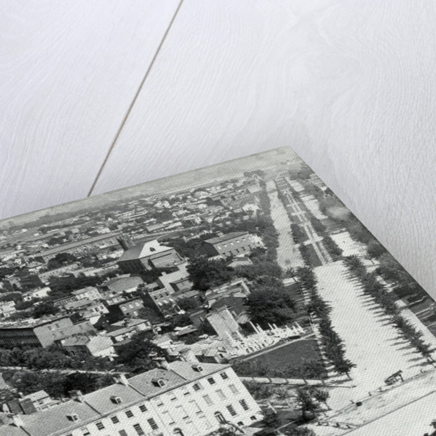 Aerial View Of Washington Dc, 1850 by Corbis