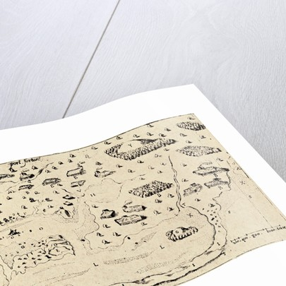 Map from Voyages of Samuel de Champlain by Corbis