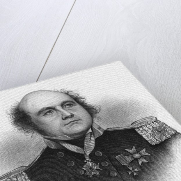 Illustrated Portrait of Sir John Franklin by Corbis