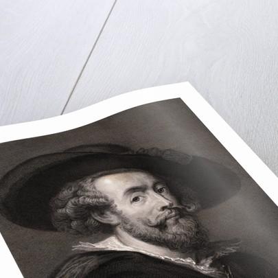 Flemish Painter Peter Paul Rubens Wearing Hat by Corbis