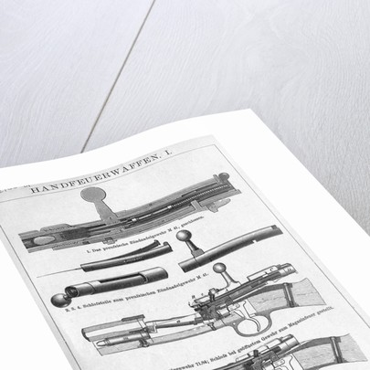 Cross Sections Of Gun Parts/Illust by Corbis