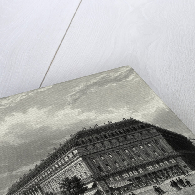 Engraving of Grand Hotel in Paris by Corbis