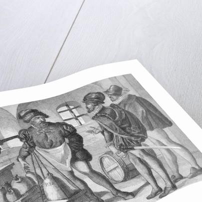 Medieval Merchants Weighing Goods by Corbis