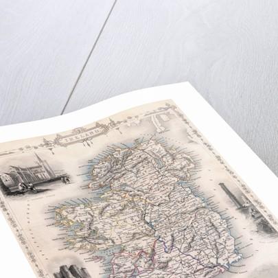 19th-Century Map of Ireland by Corbis