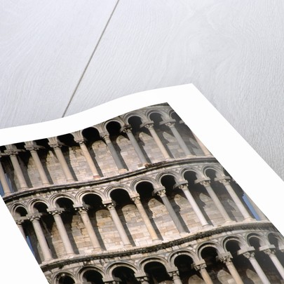 Arcades of the Leaning Tower of Pisa by Corbis