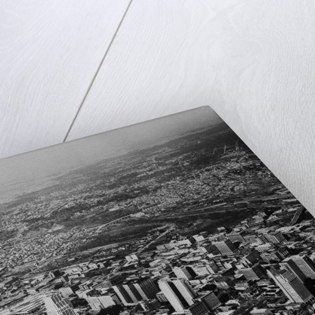 Aerial View of Houston and Surrounding Suburbs by Corbis