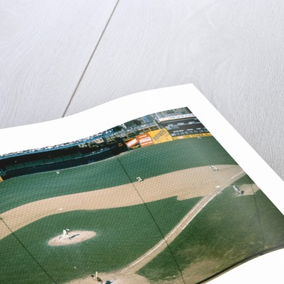 Aerial View of Baseball Game by Corbis