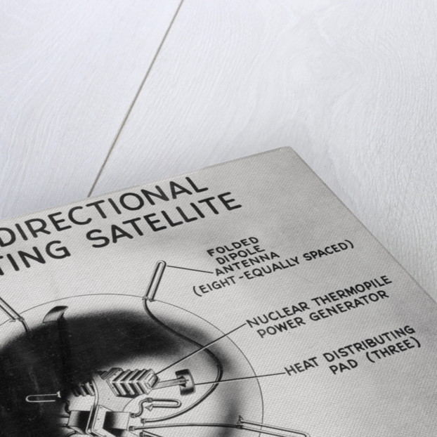 Drawing ASTRO Satellite's Power Source by Corbis
