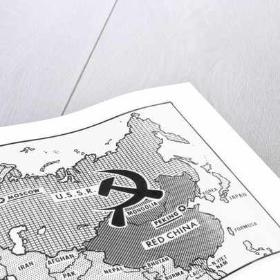 Great Decisions Map of Communist Countries posters & prints by Corbis