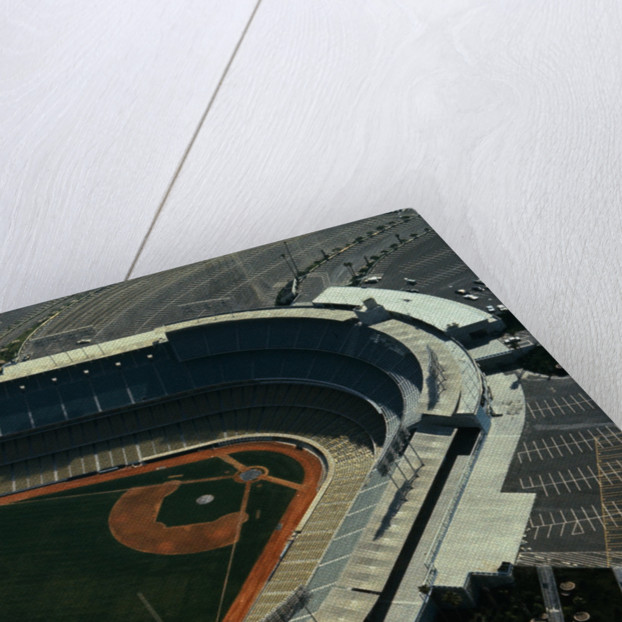 Aerial View of Dodger Stadium with Parking Lots by Corbis