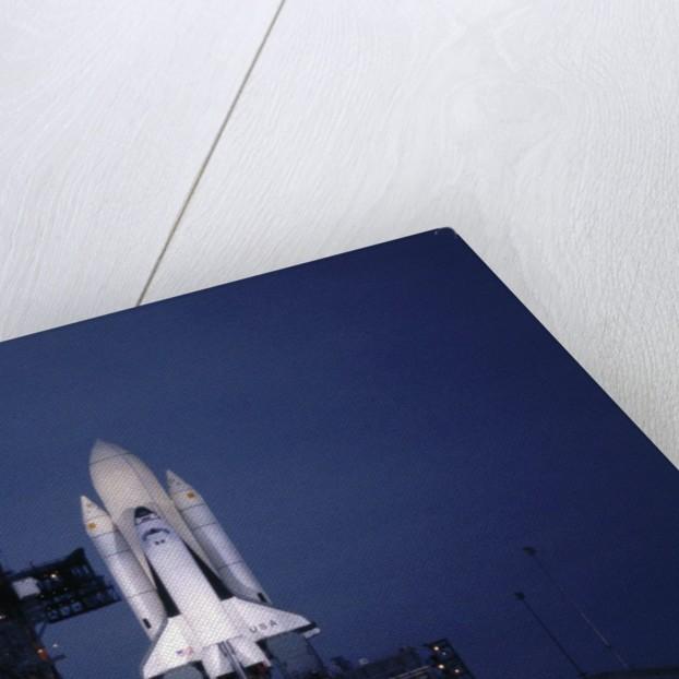 Illuminated Columbia on Launch Pad by Corbis