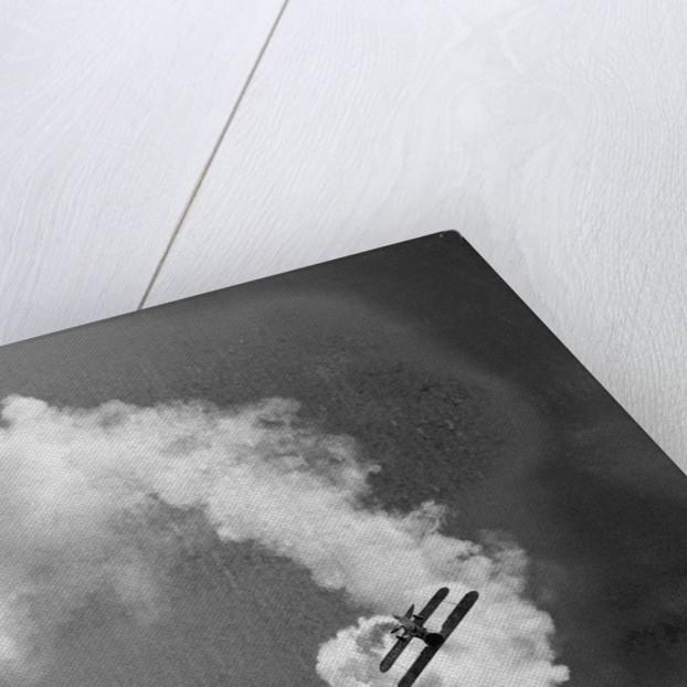 Plane Producing Dense Smoke by Corbis