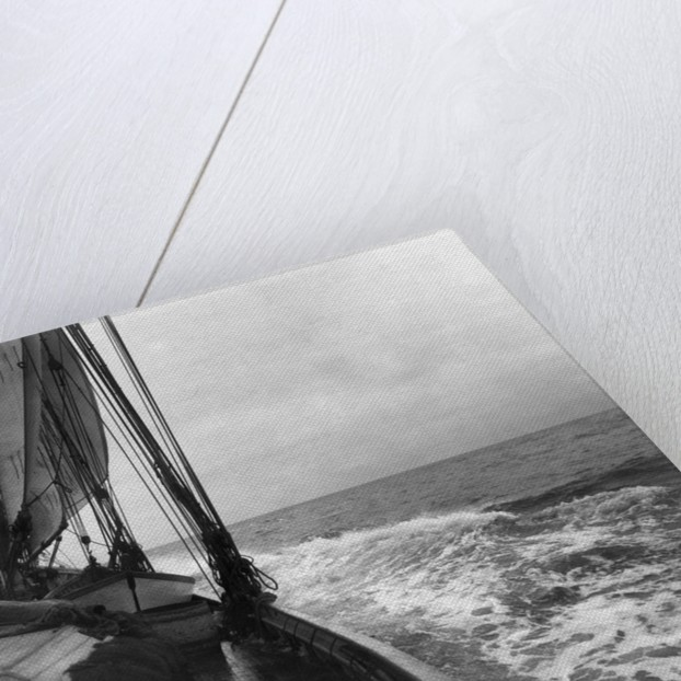 Fishing Boat at Sea in Rough Weather by Corbis