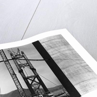 Golden Gate Bridge Under Construction by Corbis