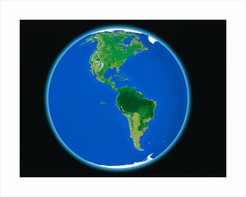 PLANET EARTH AMERICA NORTH AMERICA SOUTH AMERICA COMPUTER GRAPHIC by Corbis