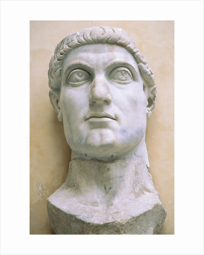 Late Antique Roman Colossal Head of Constantine by Corbis