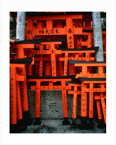 Torii Gates at Fushimi Inari Shrine, Japan, Kyoto by Corbis