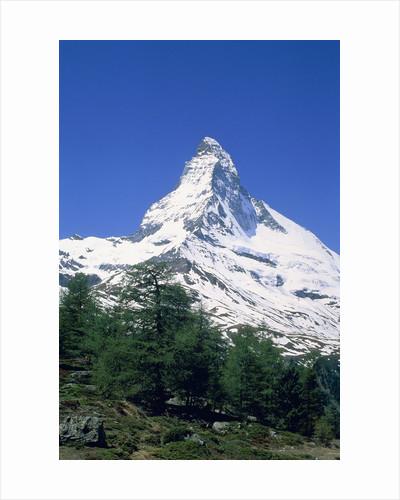 Matterhorn, with snow covered peak, Switzerland, Zermatt by Corbis