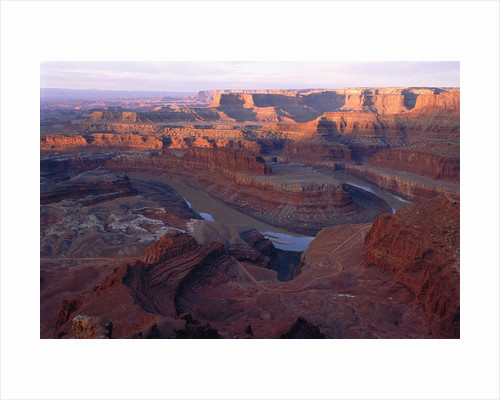 USA, Utah, Dead Horse Point State Park, Colorado River, Goose Neck at sunrise by Corbis