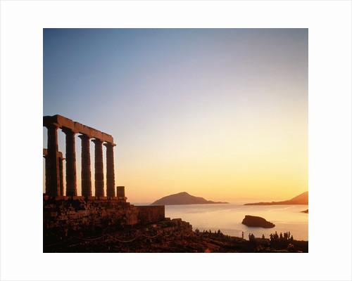 Ruin of the Poseidon temple in Attica (Greece) by Corbis