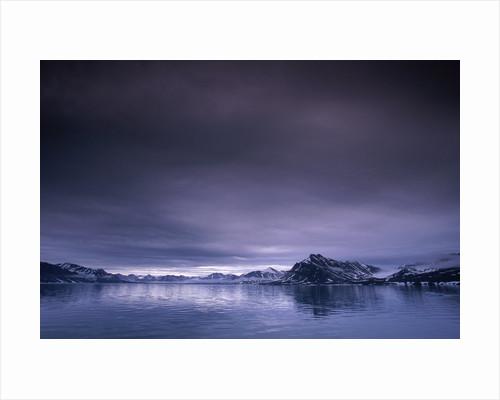 Arctic fjord, St. Jonsfjorden, Spitzbergen, Norway by Corbis