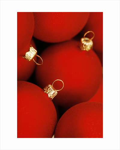 Christmas baubles by Corbis