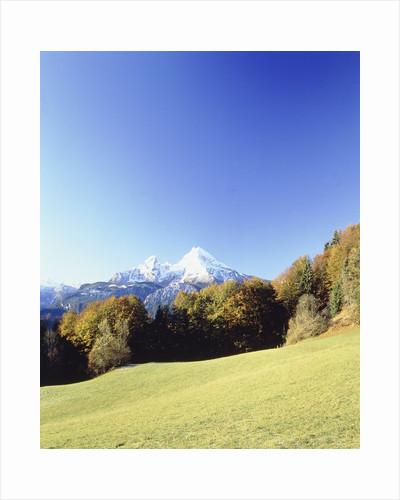 Landscape during autumn in front of the 'Watzmann' mountain by Corbis