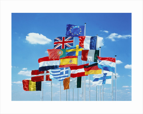 National flags of the European Community by Corbis