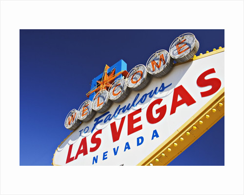 Welcome to Las Vegas Sign by Corbis