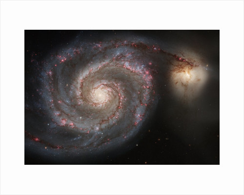 The Whirlpool Galaxy (M51) by Corbis
