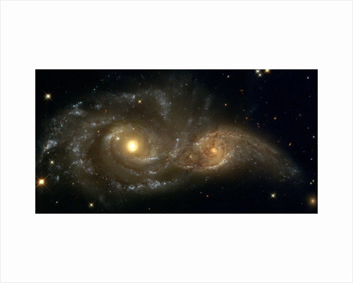 Galaxies Nearly Colliding by Corbis