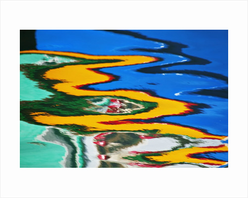 Colors Reflected in Ripples in Canal by Corbis