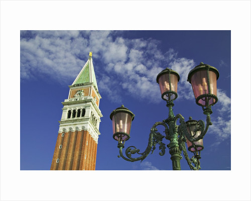 Campanile and Street Lamp by Corbis