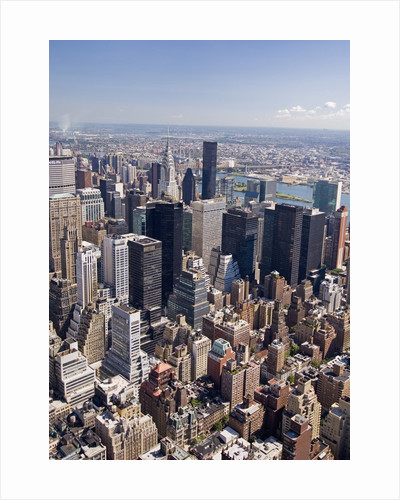 View of Central Manhattan from the Empire State Building by Corbis