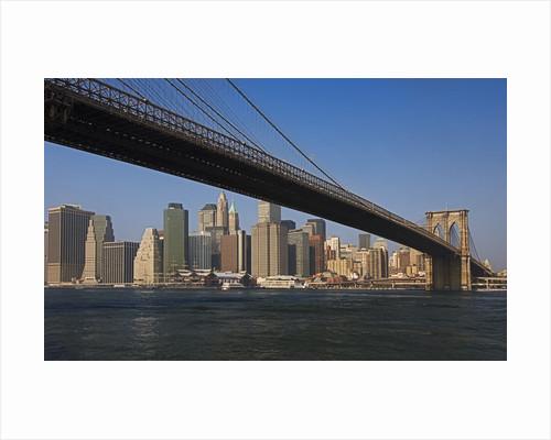 Lower Manhattan and the Brooklyn Bridge by Corbis