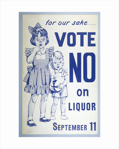 Prohibition Poster by Corbis