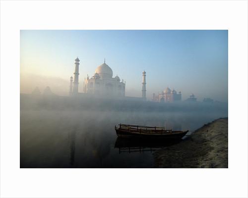 Landscape view of The Taj Mahal, Agra, Uttar Pradesh, India by Corbis