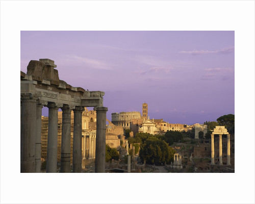 Ruins at the Ancient Forum, Rome, Italy by Corbis